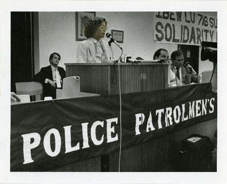 Houston mayor Kathy Whitmire in 1984. Photo: File Photo, Houston Chronicle