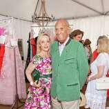 Barbara Brown and fashion designer Oscar dela Renta at the Oscar de la Renta Resort 2015 fashion show presented by Saks Fifth Avenue and The League to Save Lake Tahoe at Incline Village in Lake Tahoe on August 2, 2014.