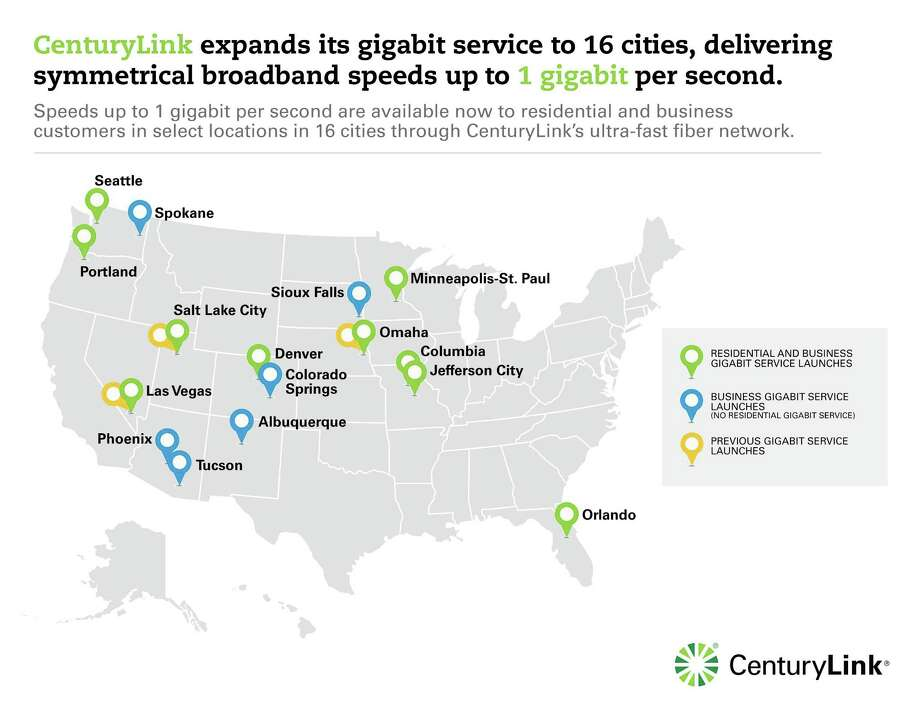 CenturyLink announced expansion of its gigabit service to Seattle and 12 other cities on Tuesday, Aug. 5, 2014. Photo: CenturyLink