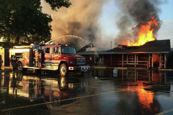 A beloved stop on the Texas barbecue trail, Hinze's BBQ just outside Wharton suffered a devastating fire on Monday evening just before dinner rush. No one was hurt in the blaze, which began with an out of control pit fire, but the building is said to be total loss.