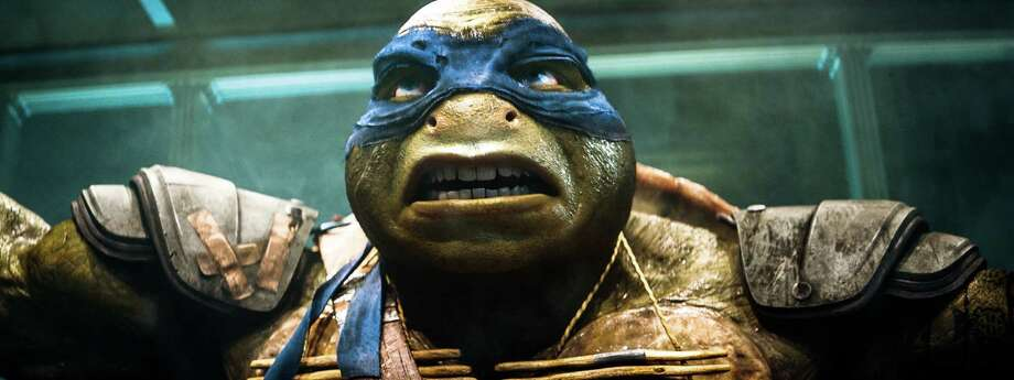 "Cartoon heroes come to life in the live-action ""Teenage Mutant Ninja Turtles"" movie opening this weekend. Watch the trailer Photo: Industrial Light & Magic, AP / Paramount Pictures"