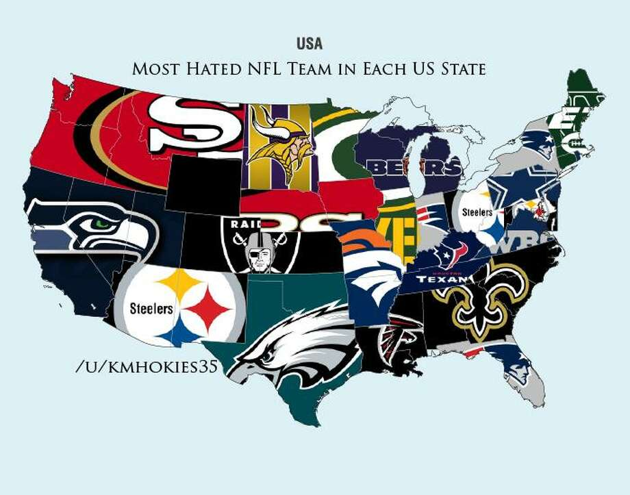 Did the results surprise you? Do you hate the Eagles as much as the Redditors of Texas, or would a different NFL team top your own, personal hate list? Let us know in the comments, and check out the cool graphic above from Reddit user kmhokies35! Photo: Reddit