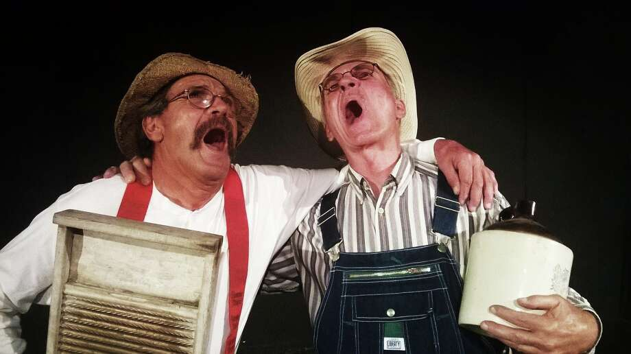 "Robert Pulido and Bobby G. Perkins appear in ""Hee Haw Live"" at the Rose Theatre Company. Photo: Courtesy Rose Theatre Company"