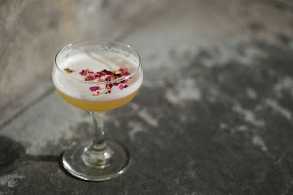 Imperial Sour #2 is a cocktail made with Mandarine Napolen, served at 2014 Tales of the Cocktail.