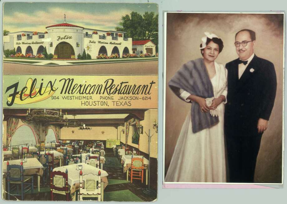 "Felix's menu, circa 1957, showed Felix and Janie (""Mrs. Felix"") Tijerina. Photo: Family Photo / handout"