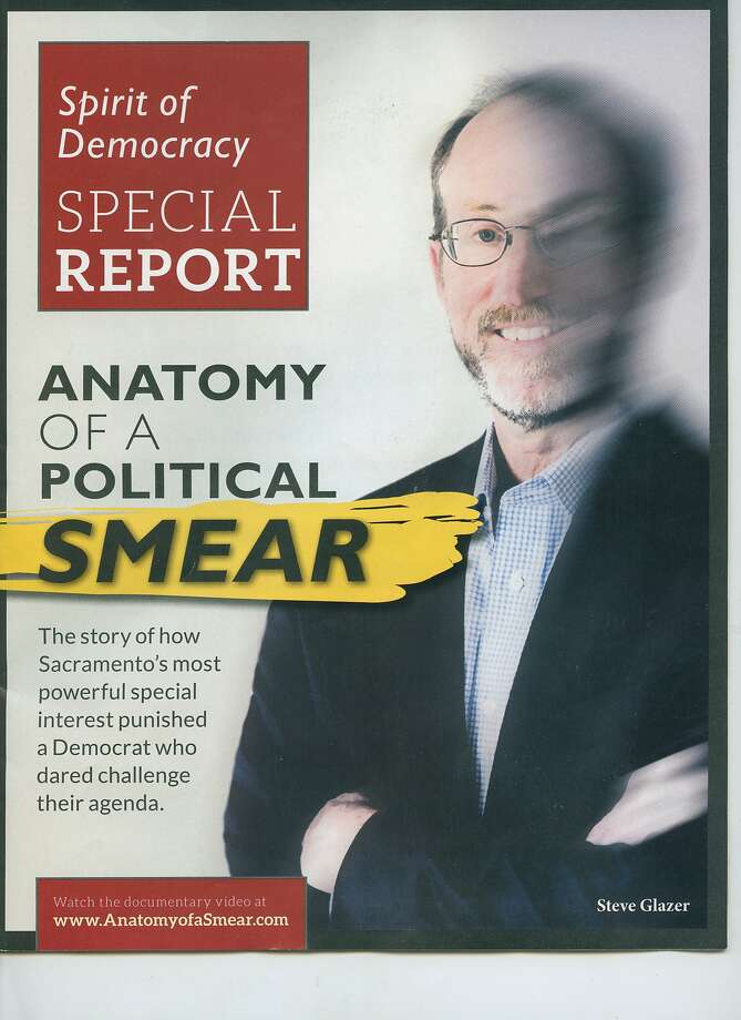 "Cover of ""Anatomy of a Political Smear,"" the mailer with a smeared picture of Democrat Steve Glazer."