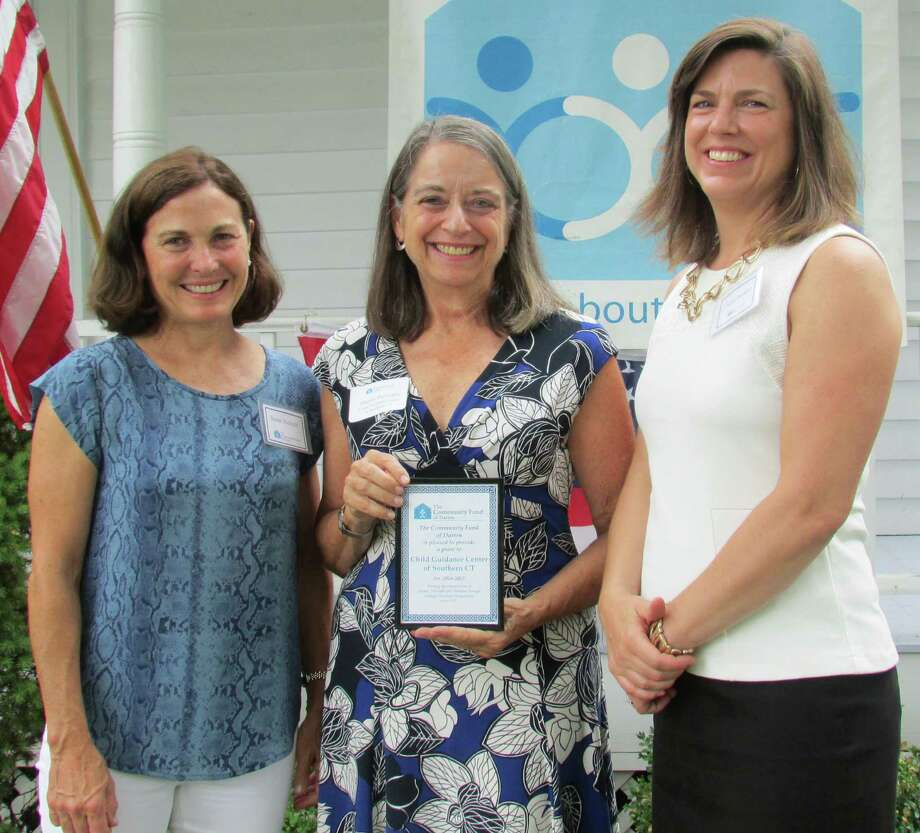 The Community Fund of Darien presented a $60,000 grant to the Child Guidance Center of Southern Connecticut, which serves several towns, including Darien and New Canaan. From left, Susan Balloch, TCF board president; Sherry Perlstein, CGC president and CEO; and Carrie Bernier, TCF executive director. Photo: Contributed Photo, Contributed / Darien News
