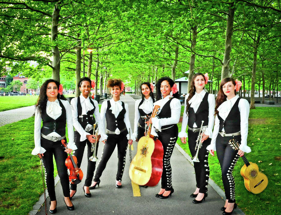 Mariachi Flor de Toloache, an all-female, nine-member mariachi band founded in New York City in 2008, will perform at the Darien Library Thursday, Aug. 14. Photo: Contributed Photo, Contributed / Darien News