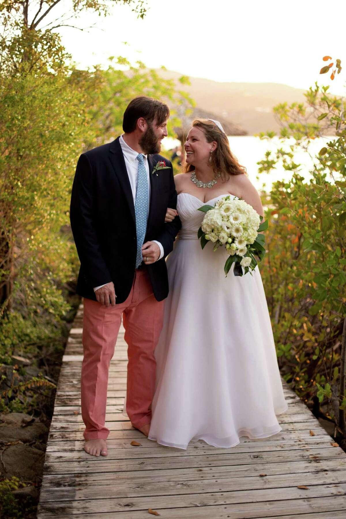 Dorothy Gamber, a graduate of Darien High School, married Christian Friedrich in May.