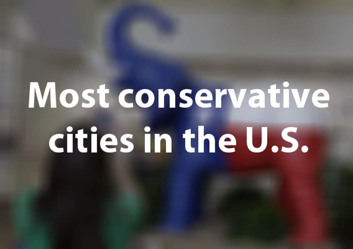 """Based on data from an upcoming survey in the """"American Political Science Review,"""" the Economist has created a report that showcases the political leanings for U.S. cities that have populations over 275,000 people. The following cities are more right-leaning than most."""