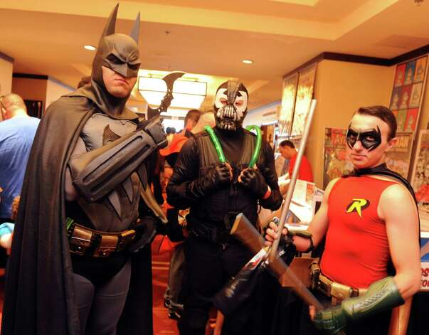 Cosplayers gather during ComiCONN at the Marriot Hotel in Trumbull, Conn., on Saturday, Aug. 24, 2013. Convention culture is on the rise throughout the country; in Connecticut, ComiCONN, an event founded by Trumbull resident Mitch Hallock, has grown by leaps and bounds since its inception in 2010. Photo: Autumn Driscoll / Connecticut Post