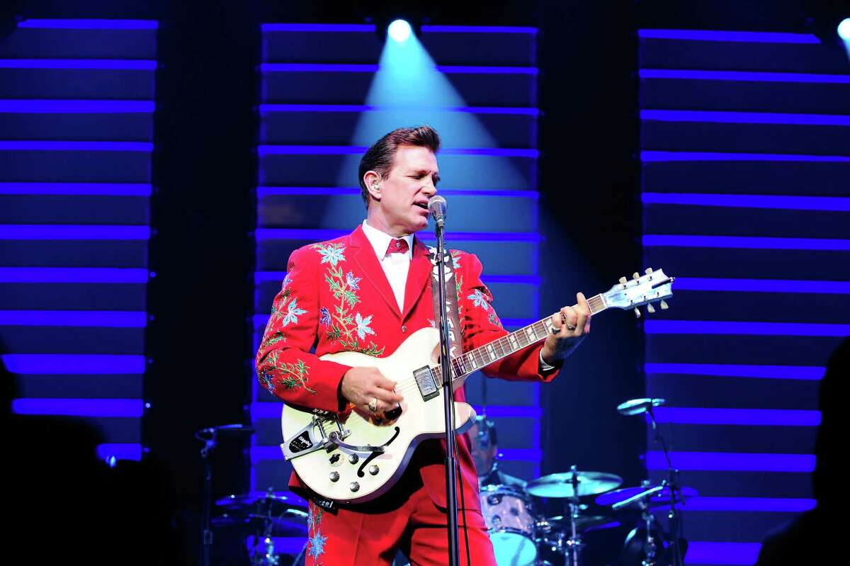 ANAHEIM, CA - AUGUST 01: Recording artist Chris Isaak performs at City National Grove of Anaheim on August 1, 2012 in Anaheim, California.