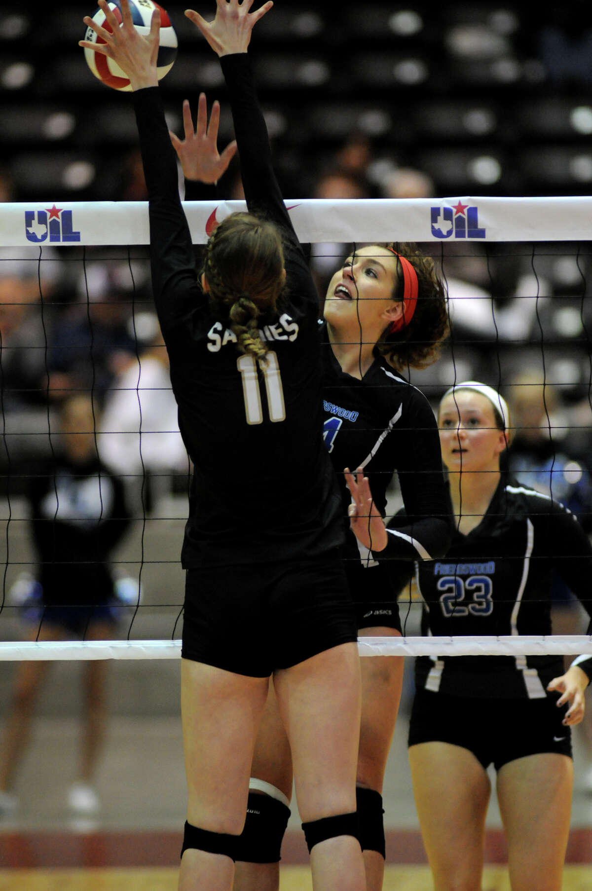 Friendswood's Sarah Redding, right, and the Mustangs face Clear Springs Friday.