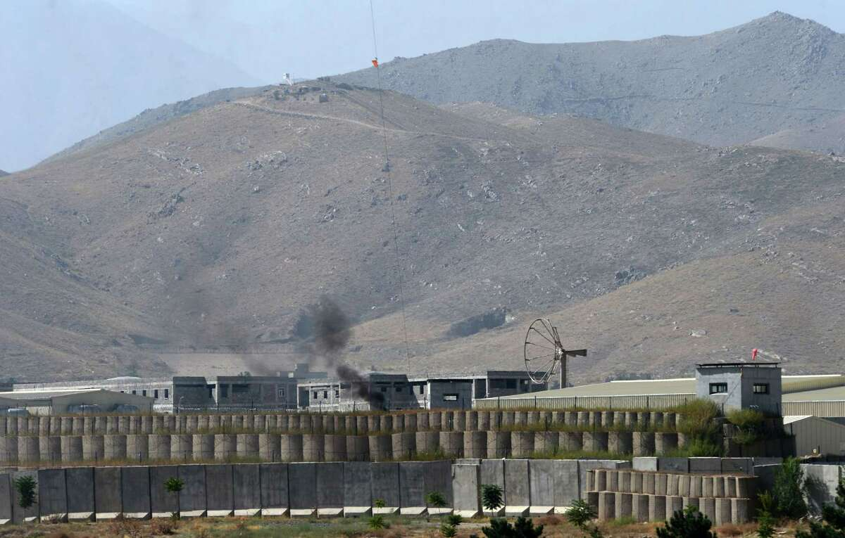 General view of a military academy base after an Afghan soldier opened fire on NATO troops inside the premises, on the outskirts of Kabul on August 5, 2014. An Afghan soldier opened fire on NATO troops at a British-run military academy in Kabul on August 5, officials said, adding that casualty details were unconfirmed and the cause of the shooting was unclear. AFP PHOTO/Wakil KohsarWAKIL KOHSAR/AFP/Getty Images