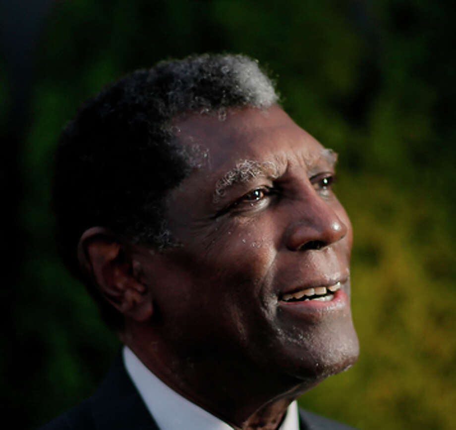 Former Warriors player and coach Al Attles poses for a photo at a reception honoring Warriors greats on Monday, who will inducted into the NBA Hall of Fame later in the week. Soon-to-be NBA basketball Hall of Famers, Al Attles Mitch Richmond and Sarunas Marciulionis attended a reception and program at CSNBA studios in San Francisco, Calif., on Monday, August 4, 2014, in advance of Friday's induction ceremonies. Photo: Carlos Avila Gonzalez / The Chronicle / ONLINE_YES