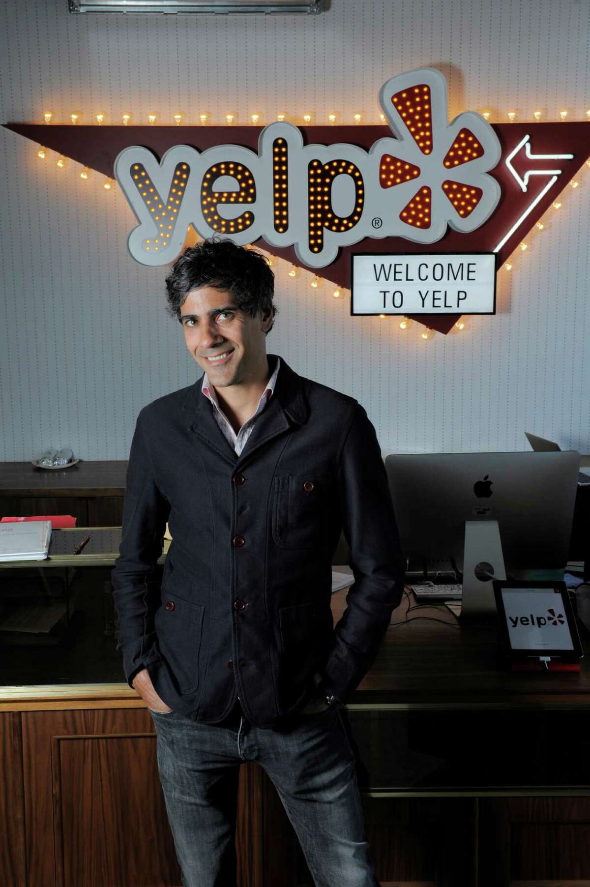 Yelp CEO and co-founder Jeremy Stoppelman poses for a portrait at Yelp headquarters on July 29, 2014 in San Francisco, CA. Yelp turns 10 years old during the Aug. 3 weekend.