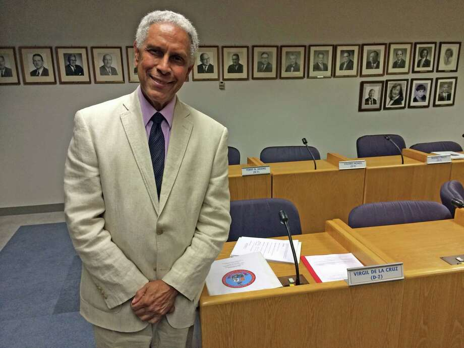 Virgil de la Cruz was approved as a member of the city's Board of Representatives Monday night to fill the District 2 seat left vacant by Ben Velishka. Photo: Kate King / Stamford Advocate