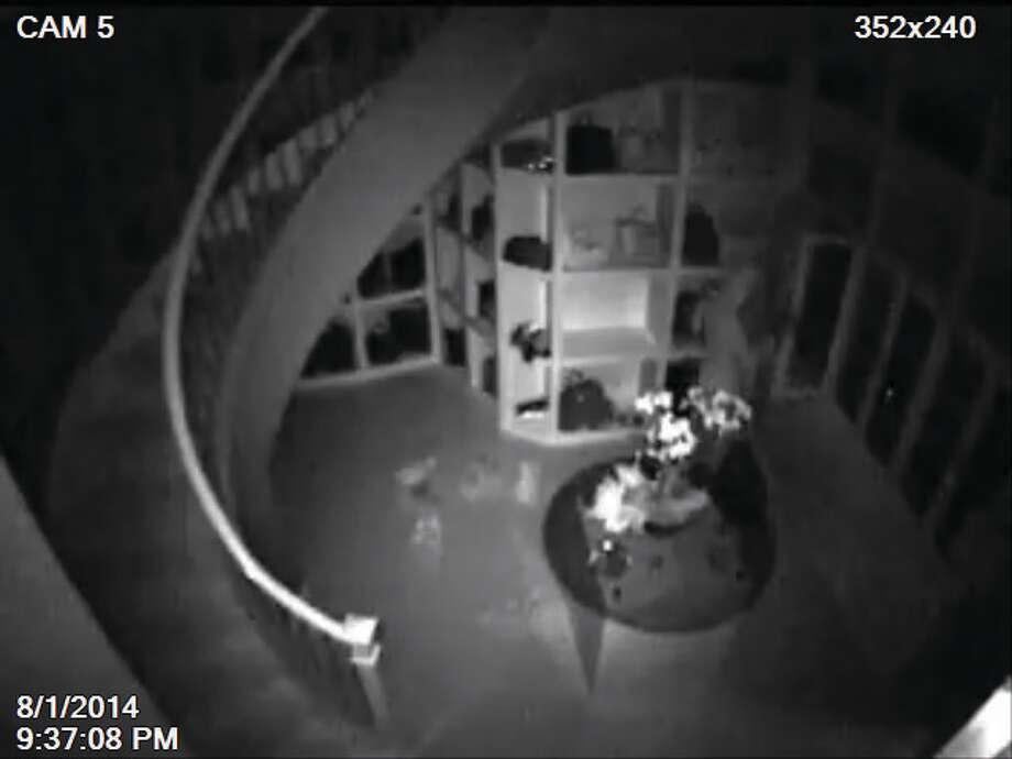 Montgomery County authorities have released surveillance video after the burglary of a 3,000 square foot closet in a Woodlands Mansion. Photo: Montgomery County Sheriff's Office