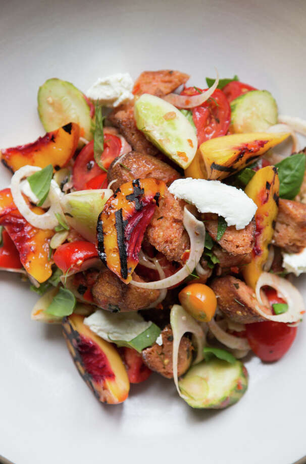 A panzanella salad made by Melissa Perello, chef at Frances restaurant, at her home in San Francisco, Calif., Thursday, July 31, 2014 Photo: Jason Henry, Contributor / Special To The Chronicle / ONLINE_YES