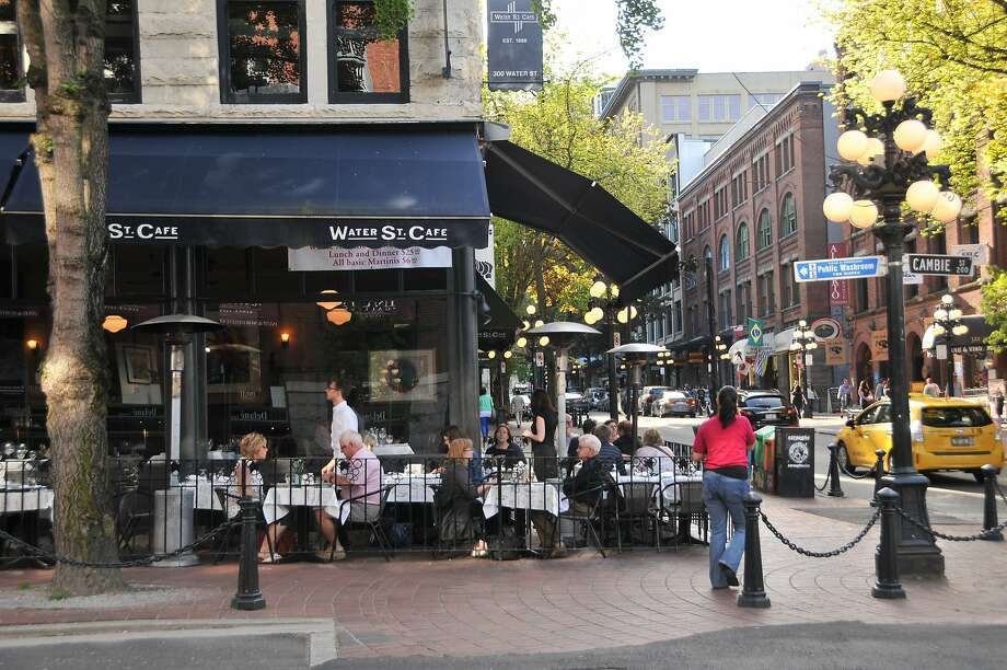 The cobblestone Water Street through the heart of Gastown. Photo: Special To The Chronicle