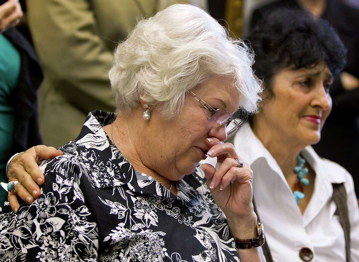 Eugenia Willingham, left, stepmother of Cameron Todd Willingham, hopes a complaint to the State Bar of Texas will clear his name posthumously.
