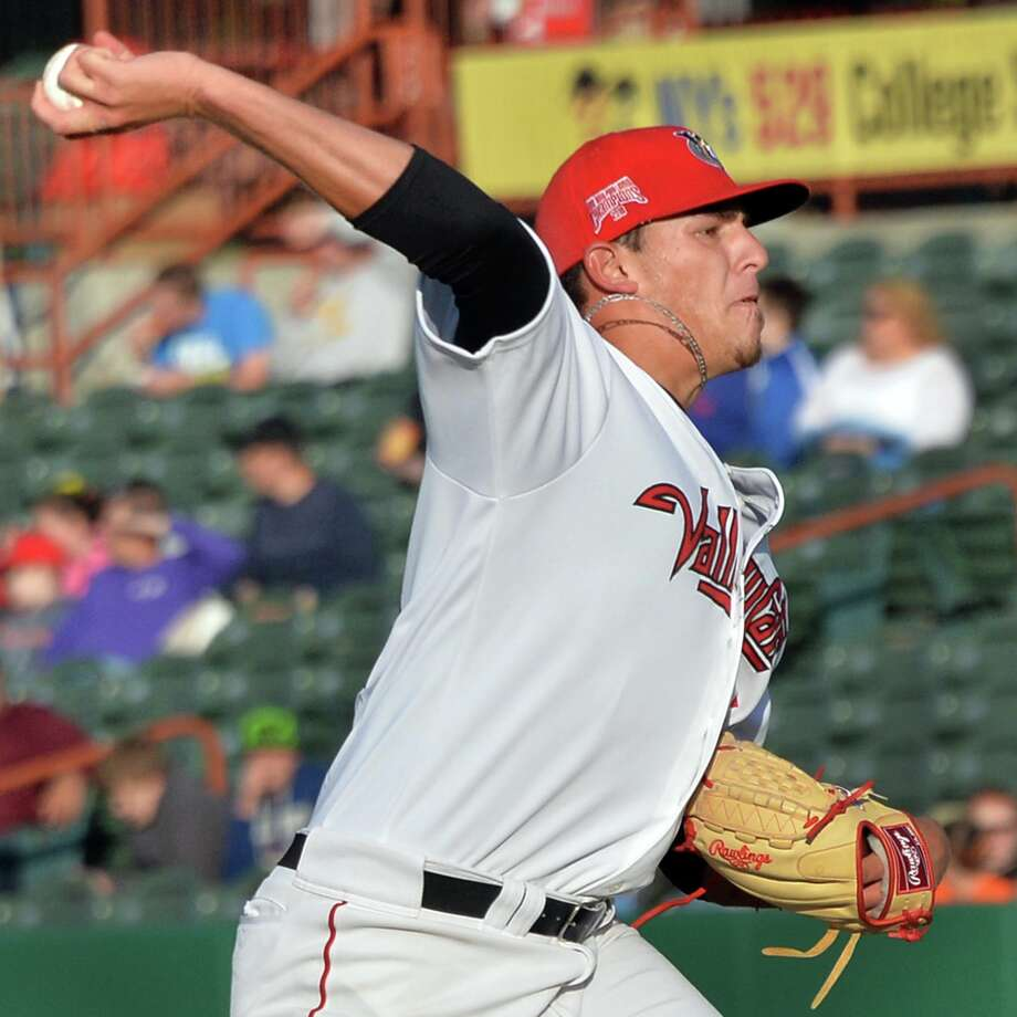 Tri-City ValleyCats' starting pitcher Joe Musgrove during Saturday night's game against the Connecticut Tigers at Joe Bruno Stadium June 14, 2014, in Troy, NY.  (John Carl D'Annibale / Times Union) Photo: John Carl D'Annibale / 00027236A