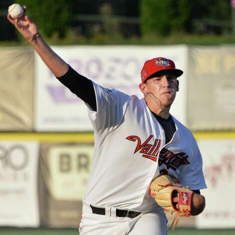 Tri-City ValleyCats's starting pitcher Joe Musgrove during Saturday's game against the Staten Island Yankees at Bruno Stadium July 26, 2014, in Troy, NY.  (John Carl D'Annibale / Times Union) Photo: John Carl D'Annibale / 00027875A