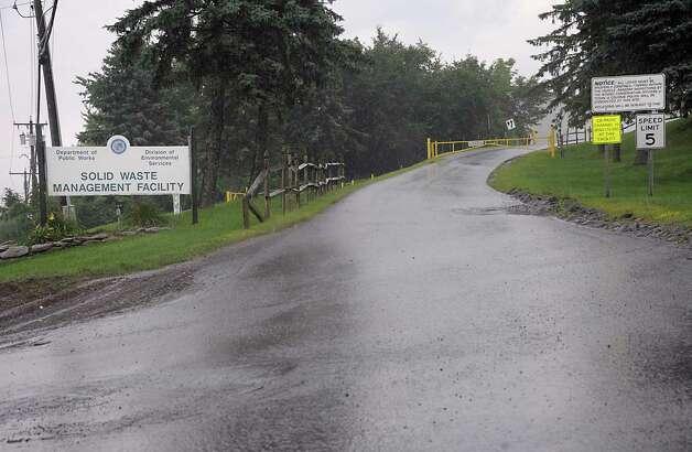 Entrance to the Colonie Landfill on Tuesday, Aug. 5, 2014 in Colonie, N.Y (Lori Van Buren / Times Union) Photo: Lori Van Buren / 00028060A