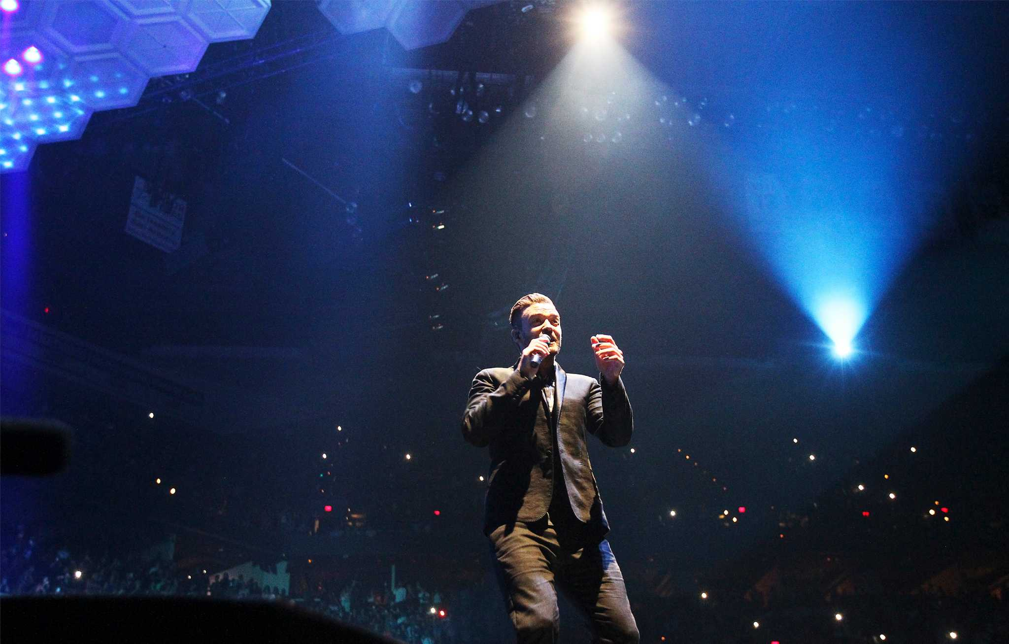 Justin Timberlake Performs At The At Amp T San Antonio
