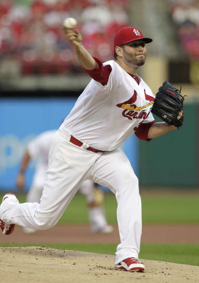St. Louis Cardinals starting pitcher Lance Lynn (31) delivers a pitch in the first inning of a baseball game against the Boston Red Sox, Tuesday, Aug. 5, 2014 in St. Louis.(AP Photo/Tom Gannam) ORG XMIT: MOTG101 Photo: Tom Gannam / FR45452 AP
