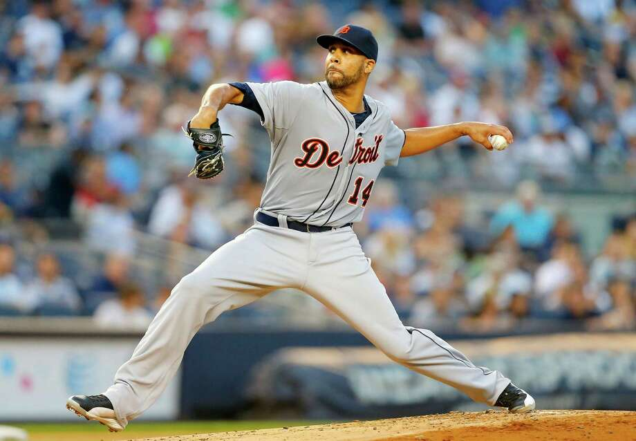 NEW YORK, NY - AUGUST 05:  David Price #14 of the Detroit Tigers pitches in the first inning against the New York Yankees at Yankee Stadium on August 5, 2014 in the Bronx borough of New York City.  (Photo by Jim McIsaac/Getty Images) ORG XMIT: 477587443 Photo: Jim McIsaac / 2014 Getty Images