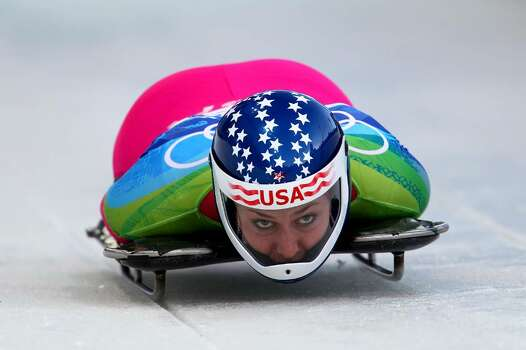 WHISTLER, BC - FEBRUARY 18:  Noelle Pikus-Pace of The United States competes in the women's skeleton on day 7 of the 2010 Vancouver Winter Olympics at The Whistler Sliding Centre on February 18, 2010 in Whistler, Canada.  (Photo by Richard Heathcote/Getty Images) *** Local Caption *** Noelle Pikus-Pace Photo: Richard Heathcote, Getty Images / 2010 Getty Images