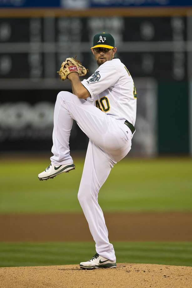 Right-hander Jason Hammel recorded his first scoreless start with the A's. Photo: Jason O. Watson, Getty Images