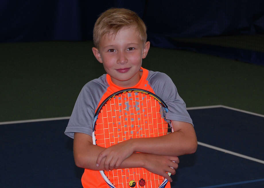 Westport's Michael Fotin, 9,  has won 30 of his last 31 USTA matches since the end of April to earn the No. 1 ranking in his age group. Photo: Contributed Photo / Westport News Contributed
