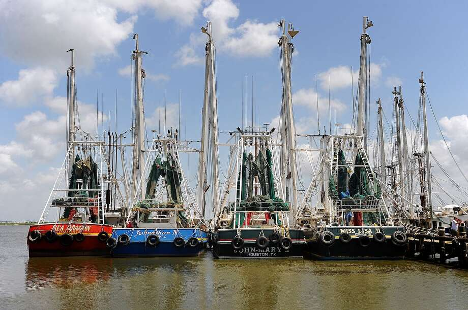 Shrimp boats line up in Port Arthur in July 2010. Guiseppe Barranco/The Enterprise Photo: Guiseppe Barranco / Beaumont