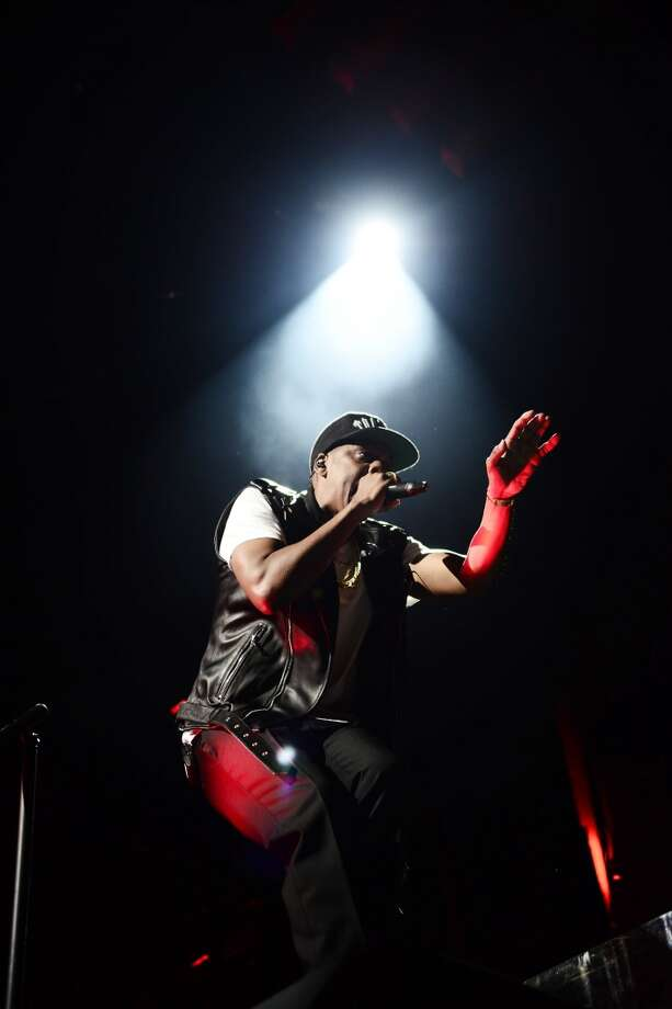 JAY Z performs during the Beyonce and Jay Z - On the Run tour at AT&T Park on Tuesday, Aug. 5, 2014, in San Francisco. Photo: Mason Poole, Associated Press