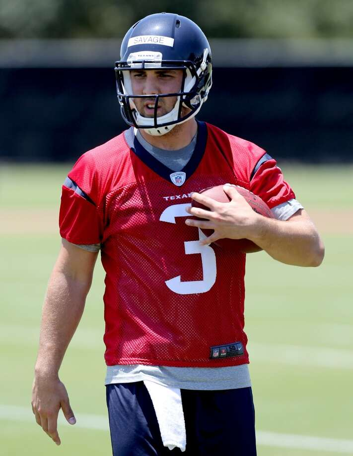 Tom Savage has had a strong opening week of training camp, including displaying a quick release. Photo: Thomas B. Shea, Houston Chronicle