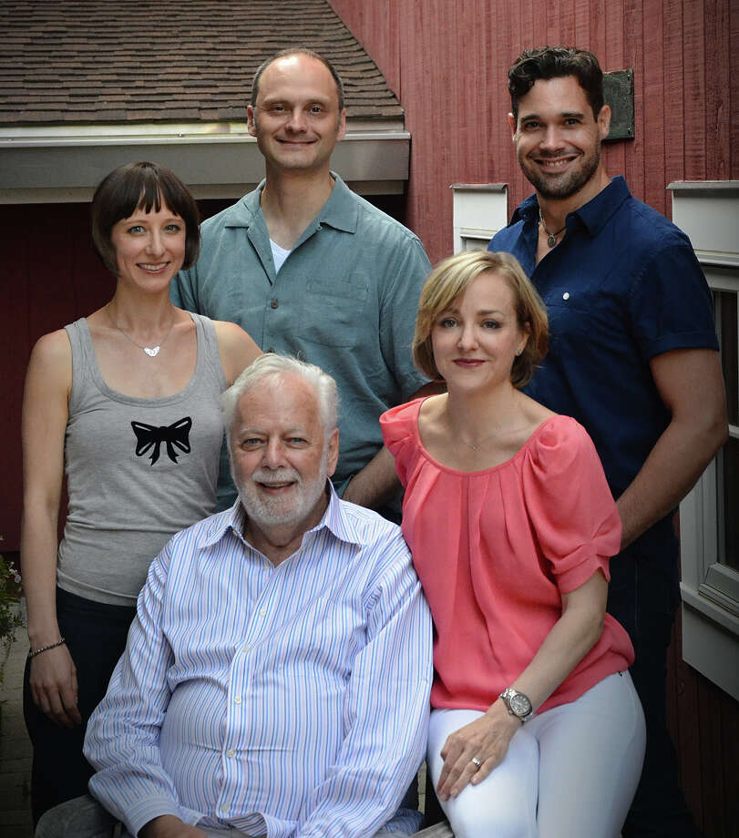 'Things We Do for Love' opens at the Westport Country Playhouse on Aug. 18. Clockwise, from bottom: Director John Tillinger; and cast members Geneva Carr,  Michael Mastro, Matthew Greer and Sarah Manton. Photo: Contributed Photo / Westport News