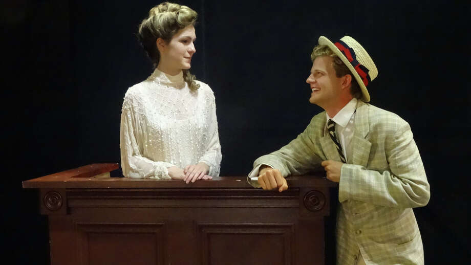 "Meaghan Elliott of Westport, Conn., shares a scene with Brendan George of Stamford, Conn., in ""The Music Man,"" this year's production of Stamford's Curtain Call's Summer Youth Theatre production. The duo play the leads Marian Paroo, the town's librarian, and Harold Hill, a slick traveling salesman. It will run from Aug. 6 to Aug. 16. Photo: Contributed Photo / Stamford Advocate Contributed photo"