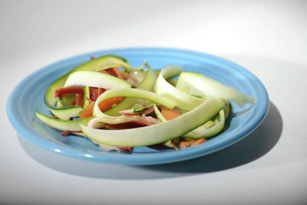 Zucchini salad Friday, Aug. 1, 2014, at the Times Union in Colonie, N.Y. (Will Waldron/Times Union) Photo: WW / 00028022A