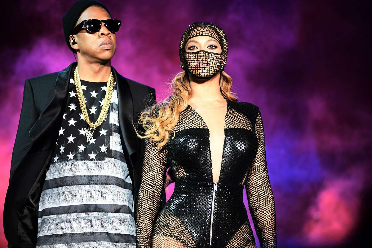 Beyonce and Jay-Z perform during the On the Run tour at AT&T Park on Tuesday, Aug. 5, 2014, in San Francisco.