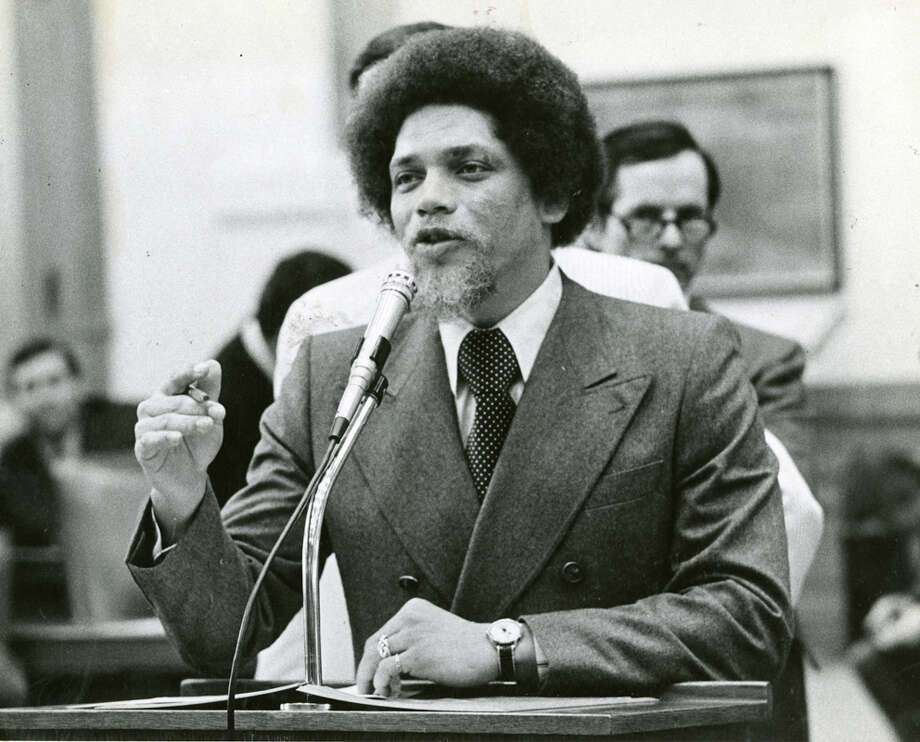 Rep. Mickey Leland in Houston, circa December 1975. Mickey Leland, a Democratic congressman from Texas 18th District, died Aug. 7, 1989 at age 44 when a plane he was on crashed during a mission trip in Fugnido, Ethiopia. Photo: Houston Chronicle File Photo