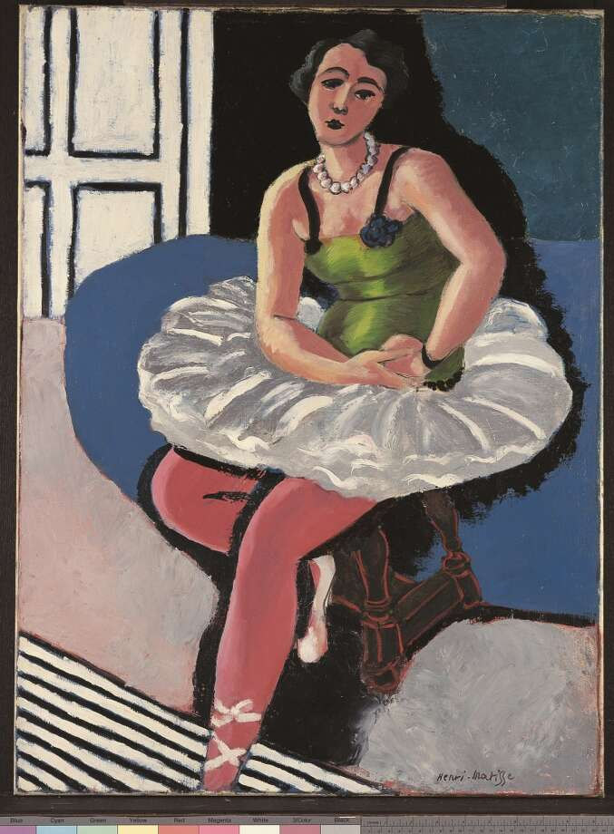 """Ballet Dancer Seated on a Stool,"" a 1927 painting from the exhibit ""Matisse: Life in Color"""