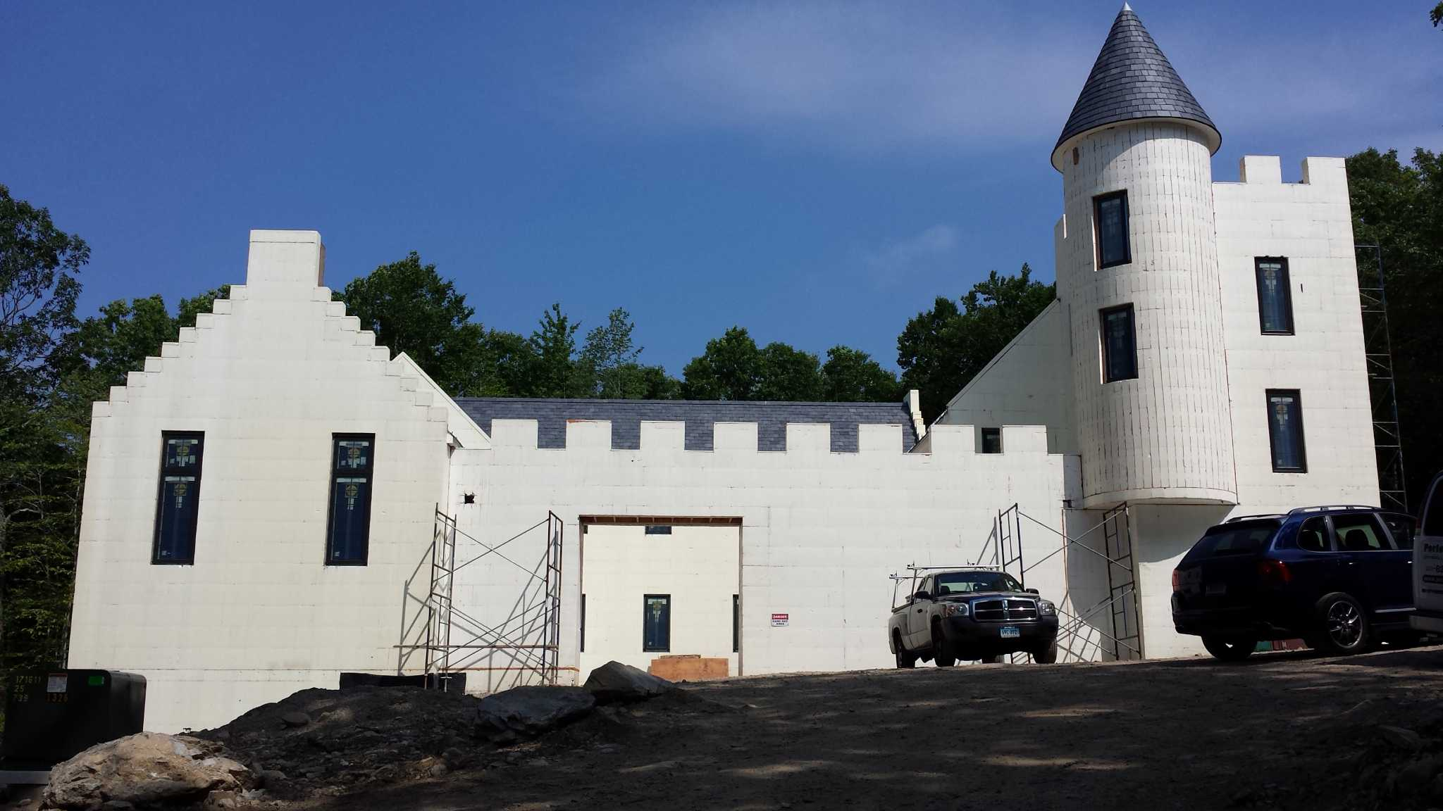 Cellular Concrete House Building For : New canaan castle built from styrofoam stamfordadvocate
