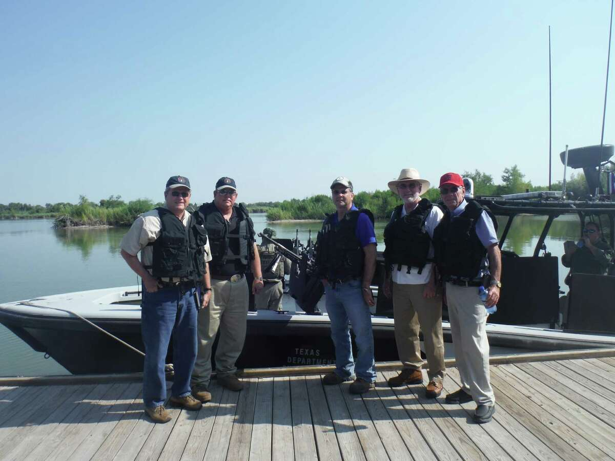 State Rep. Doug Miller tours the Rio Grande Valley with Department of Public Safety officers on August 4, 2014.