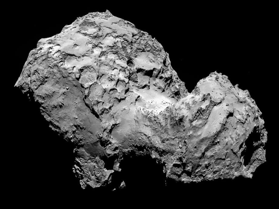 Comet 67P/Churyumov-Gerasimenko is seen in a photo taken by the ESA's Rosetta spacecraft. Photo: Handout, Getty Images