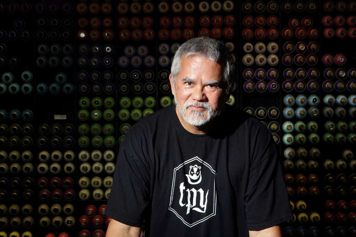 Scott Louie is one co-owner of the Paint Yard, a hub for aerosol artists. The supply shop carries high-end paint and has a small boutique art gallery.