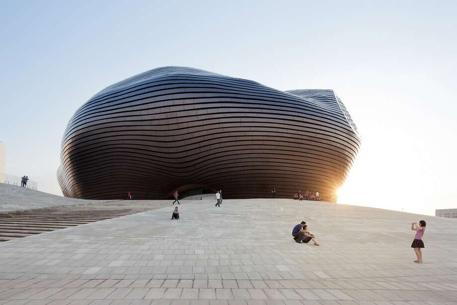 The Ordos Museum in China was designed by MAD Architects -- the Chinese firm selected by George Lucas to design his proposed museum in Chicago. Photo: Iwan Baan, Courtesy Lucas Museum Of Narrati