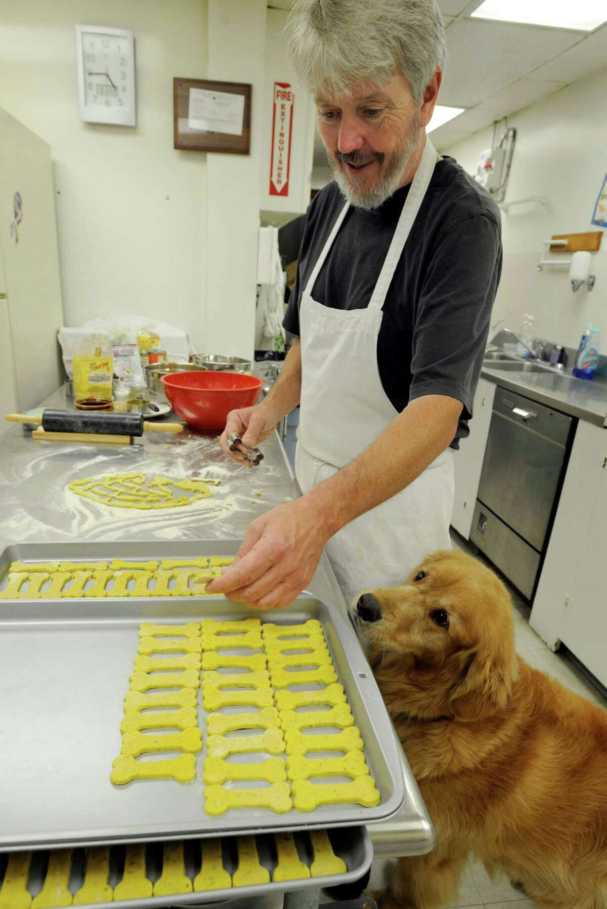 Paul Gallant, 55, of New Milford, Conn. owns and operates Paul's Custom Pet Food. His inspiration is his dog, Hunter, who was cured of cancer after a diet of organic pet foods and herbs. Wednesday, August 6, 2014.