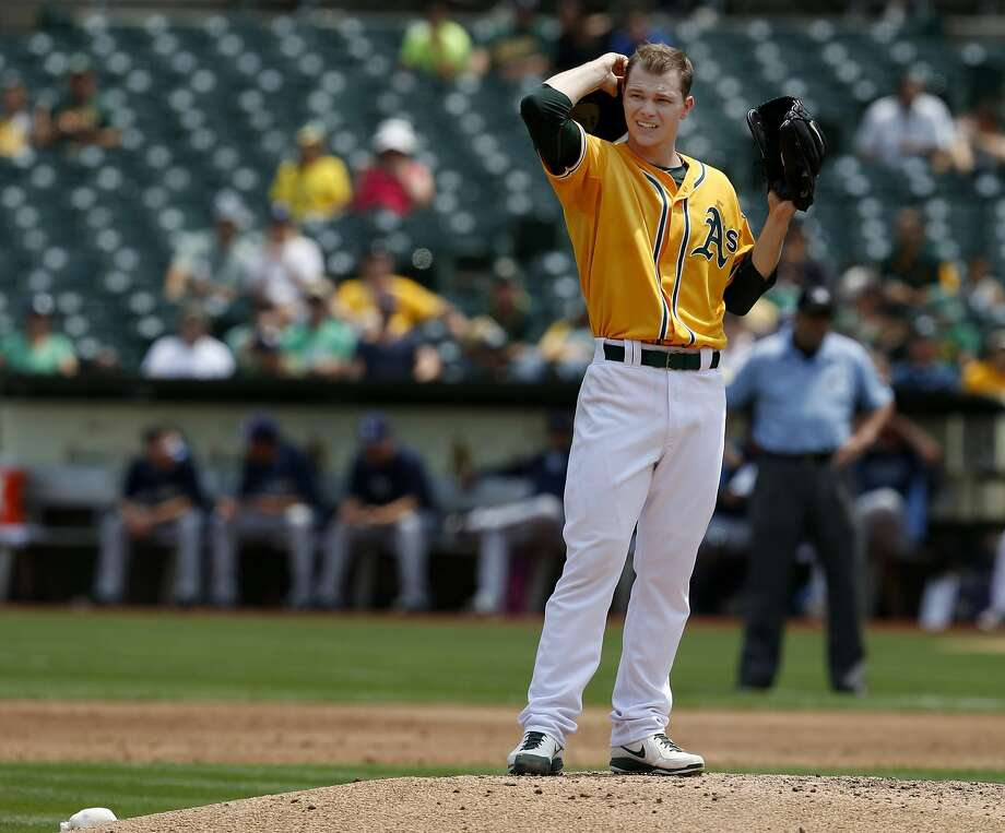 Sonny Gray allowed seven runs and 10 hits in 41/3 innings against Tampa Bay. Photo: Brant Ward, San Francisco Chronicle